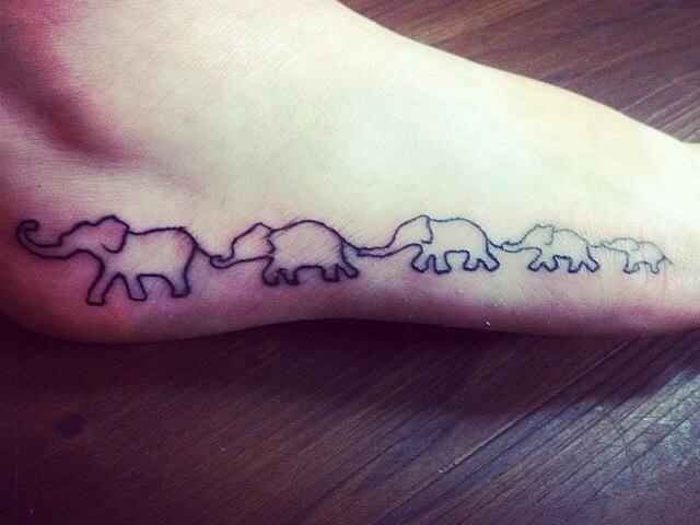 tattoo elefantino