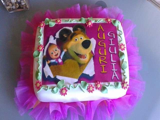 torta con masha e orso
