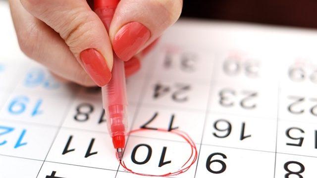 calendario mestruale