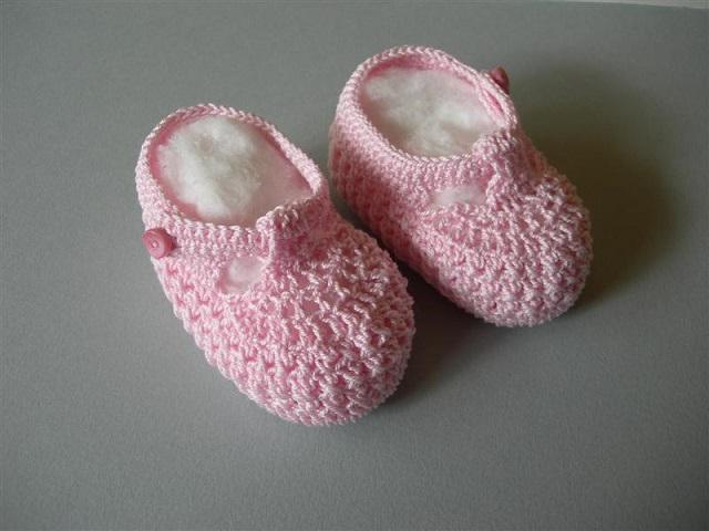 foto scarpine neonato uncinetto