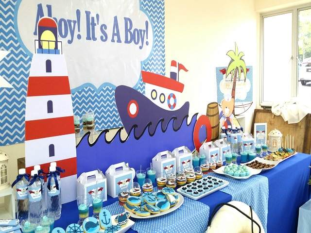 baby shower con nave