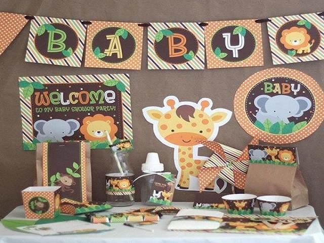 baby shower con animali