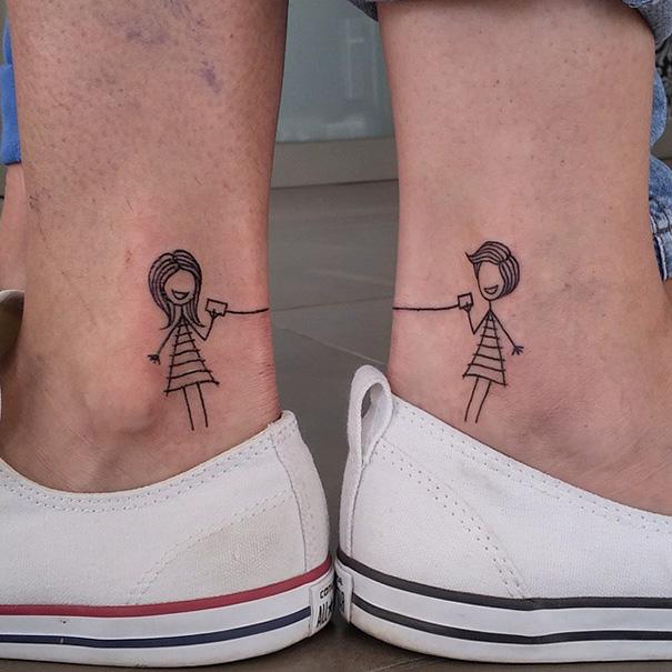 tatuaggi tra sorelle