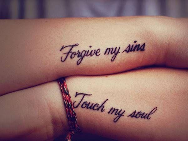 tatuaggio per sorelle