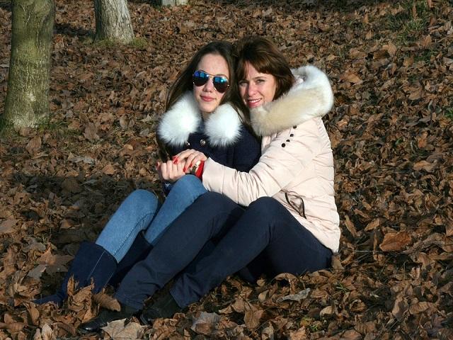 mamma e figlia autunno