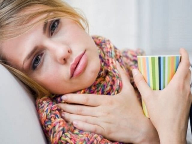 mal di gola in allattamento