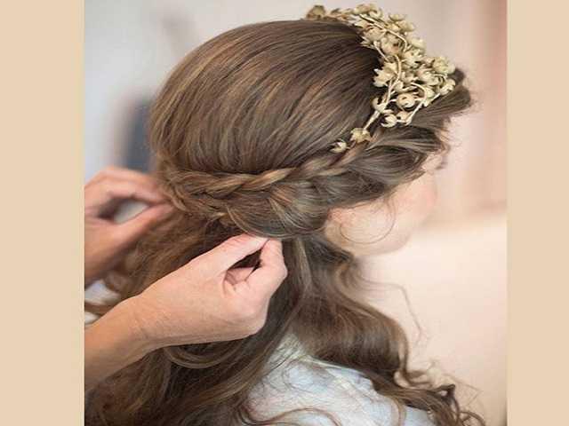 capelli lunghi acconciatura prima comunione