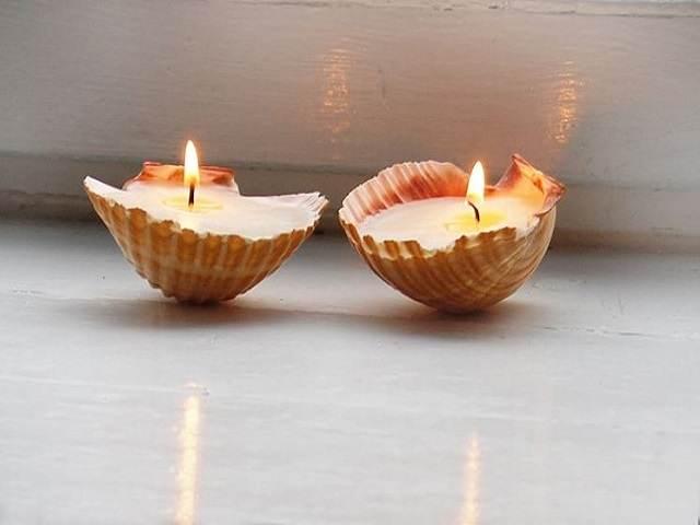 candele conchiglie