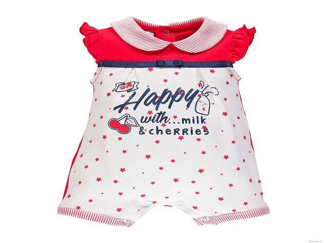 pagliaccetto neonata rosso