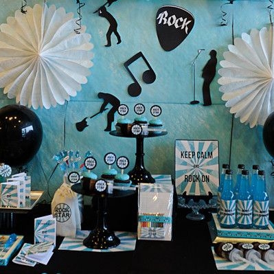 festa di primo compleanno blu