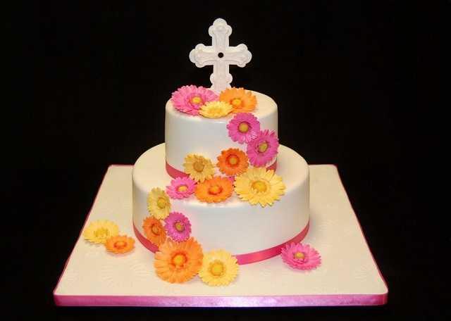 torta con fiori