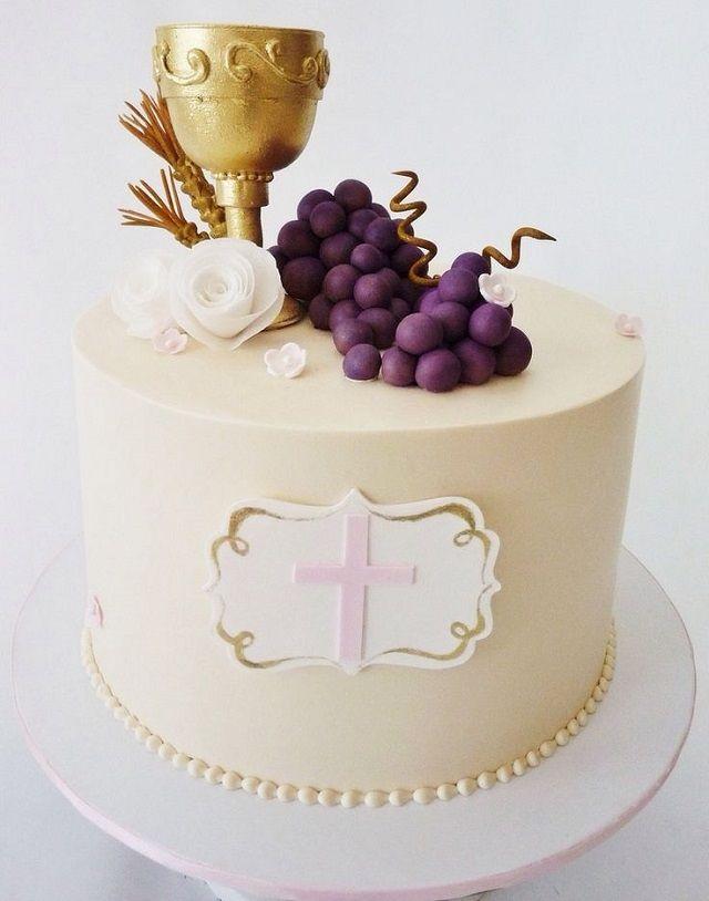 torta panna prima comunione maschio