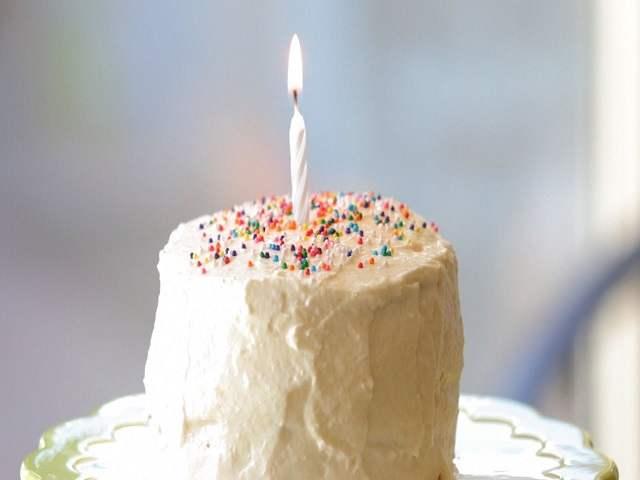 torta di panna per primo compleanno