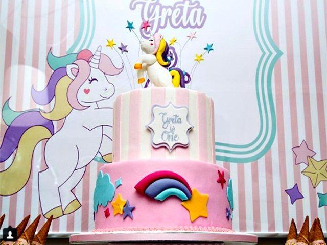 compleanno figlia elena santarelli torta