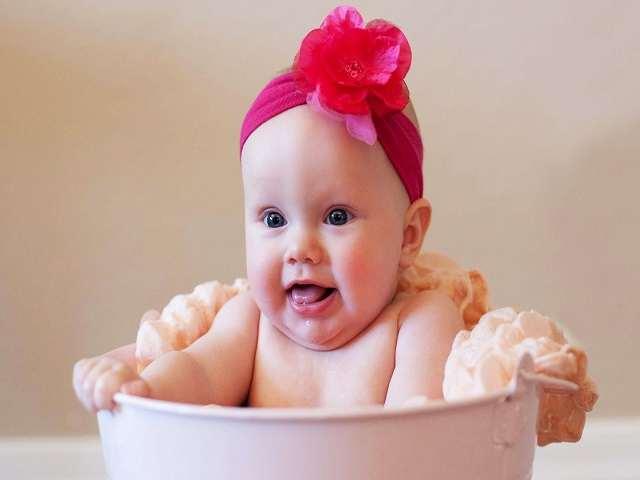 bebè fascia fiore