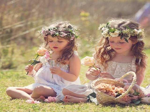 bimbe coroncina fiori