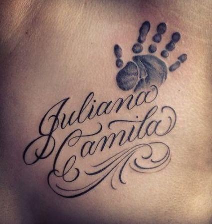 tatuaggi nomi figli