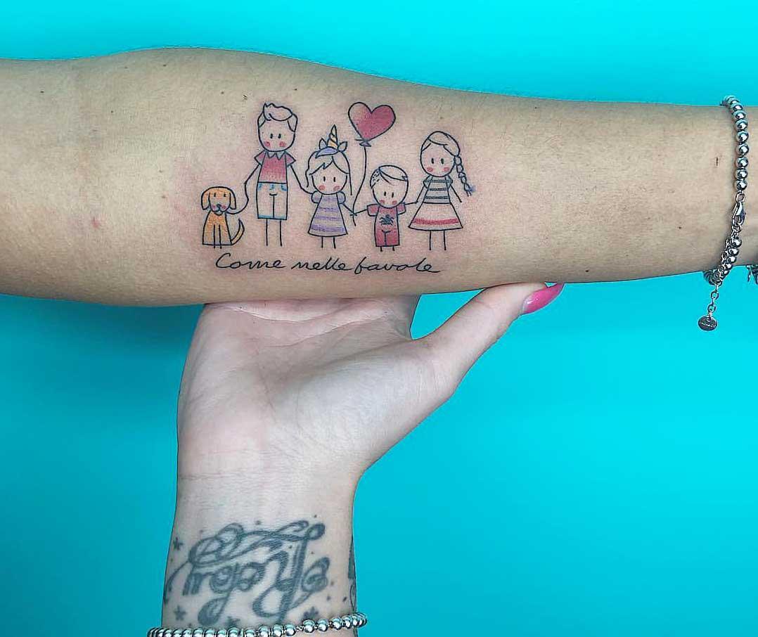tatuaggi sulla famiglia
