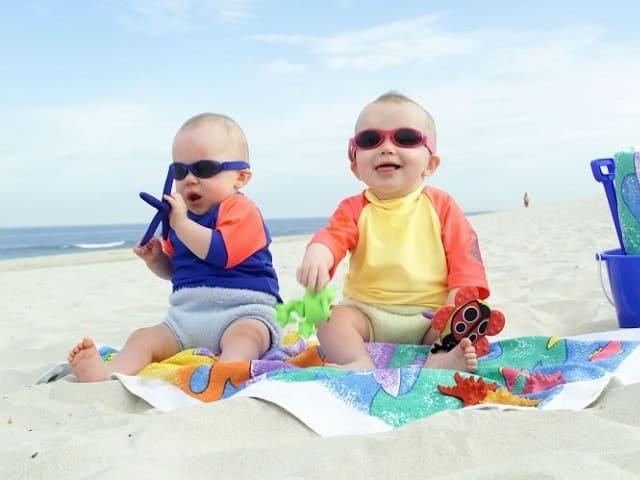 foto neonati al mare