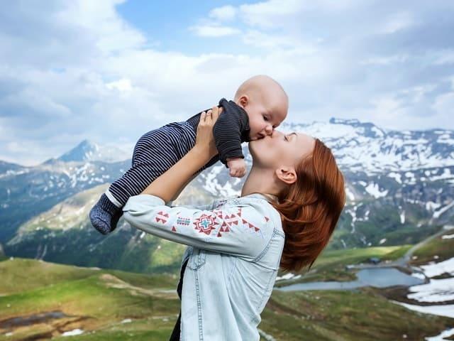 foto viaggio con neonato