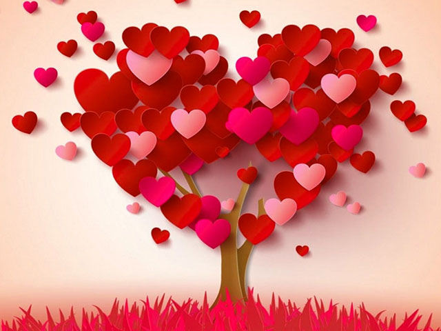 Foto albero cuori frasi dolci