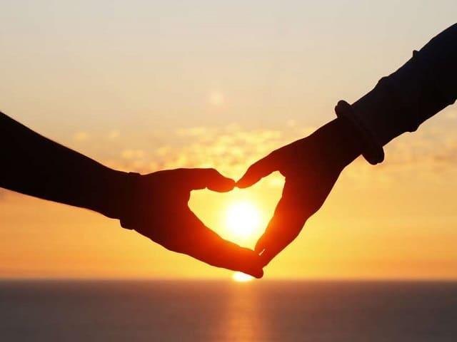 foto immagini tenere amore tramonto
