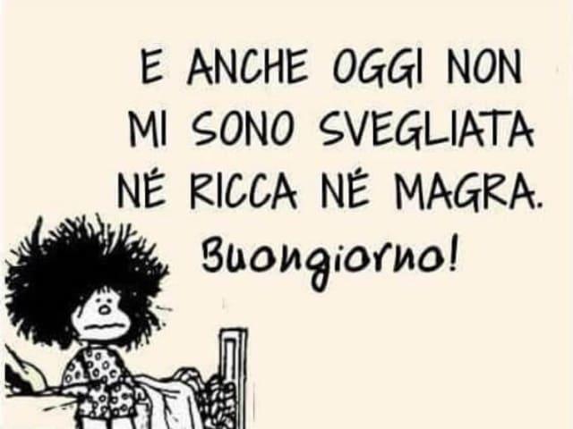 foto buongiorno divertente Mafalda