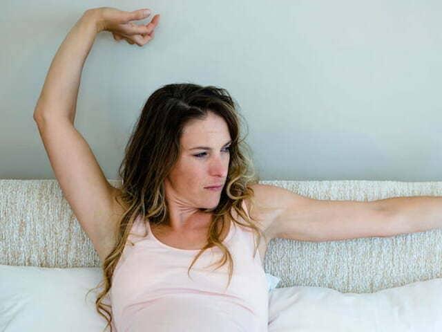 foto febbre gravidanza letto