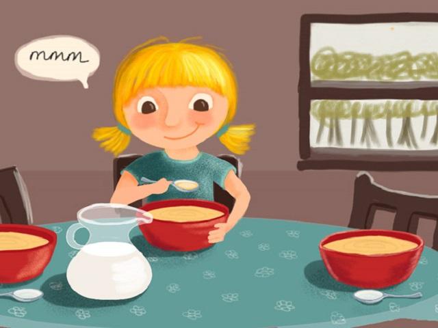 foto Riccioli d'oro che mangia