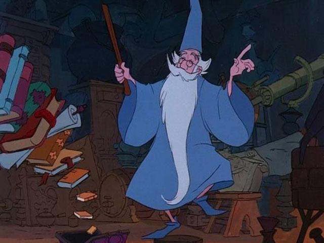 Foto Mago Merlino Spada nella roccia film Disney