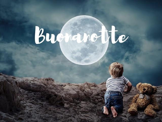 foto immagini buonanotte luna bambino
