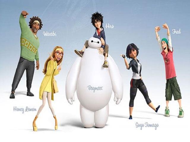 Foto personaggi Big Hero6