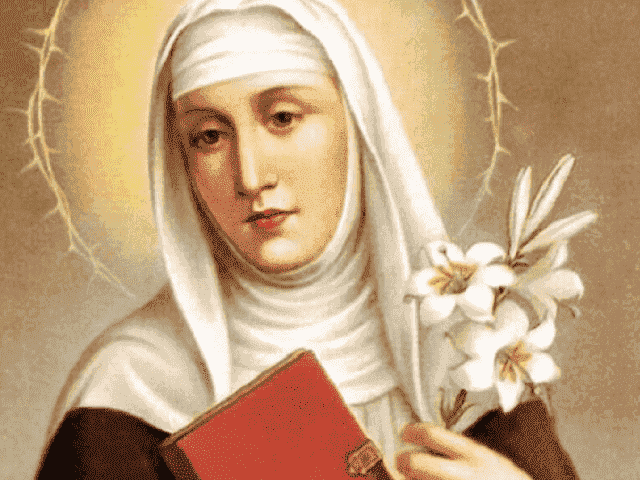foto santa caterina da siena fiore