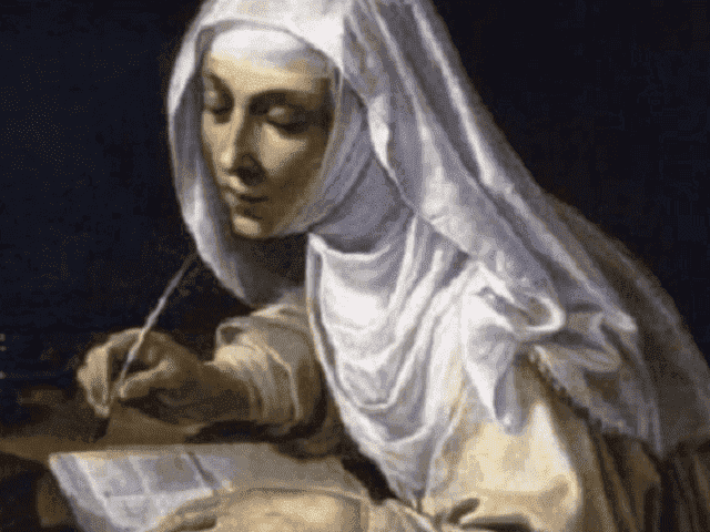 foto santa caterina da siena lettere