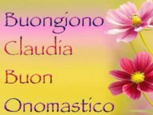 foto onomastico claudia fiore