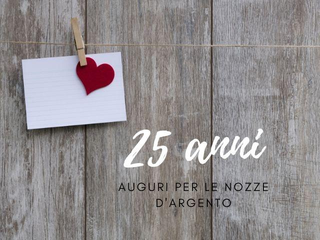 25 anni matrimonio