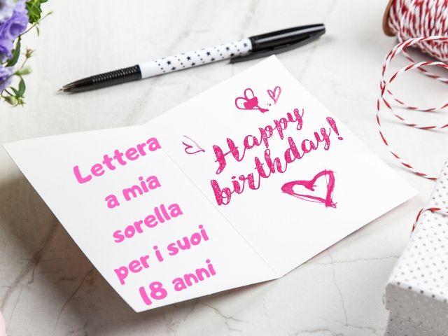 lettera a mia sorella per i suoi 18 anni