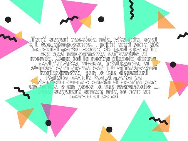 lettera mia figlia per il suo compleanno