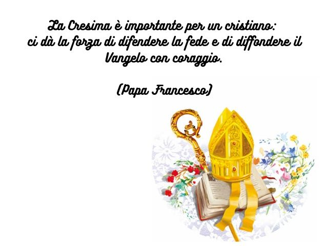 frasi cresima papa francesco