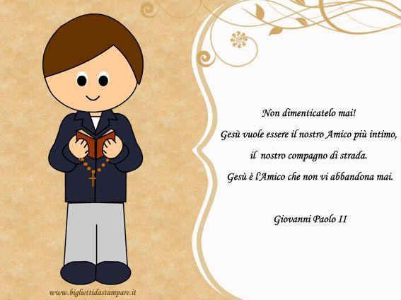 frasi prima comunione giovanni paolo II