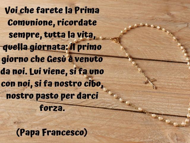 frasi prima comunione papa francesco