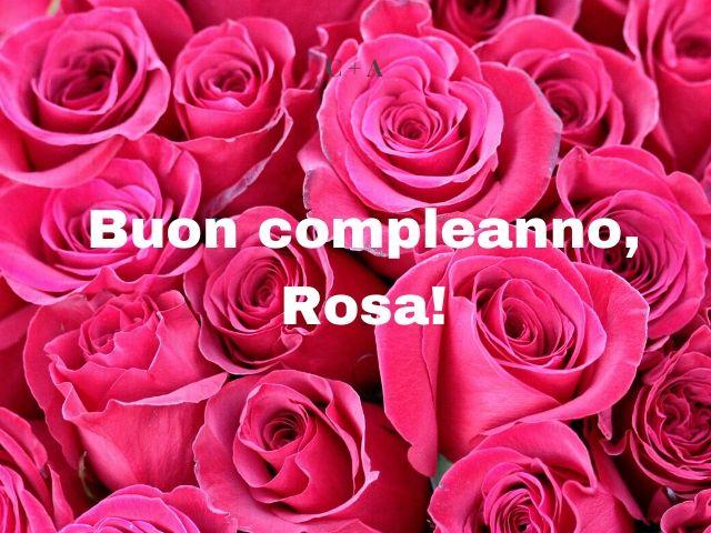 buon compleanno rosa