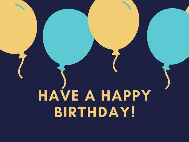 auguri di buon compleanno in inglese