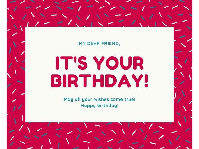 auguri di compleanno in inglese