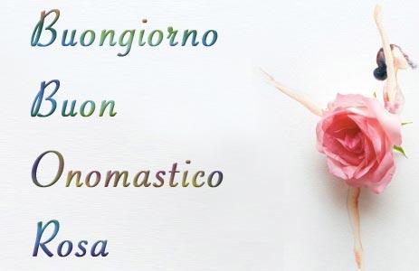 buon onomastico rosa