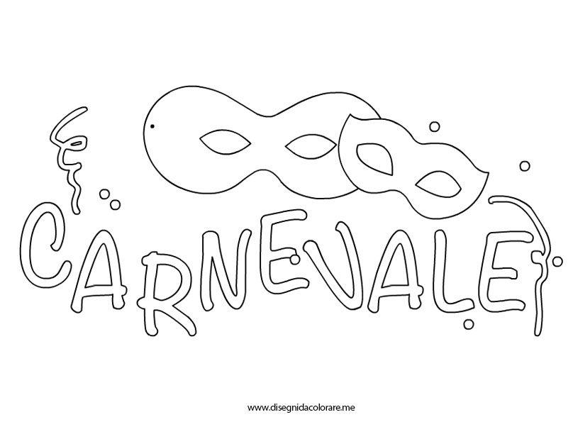 disegni di carnevale