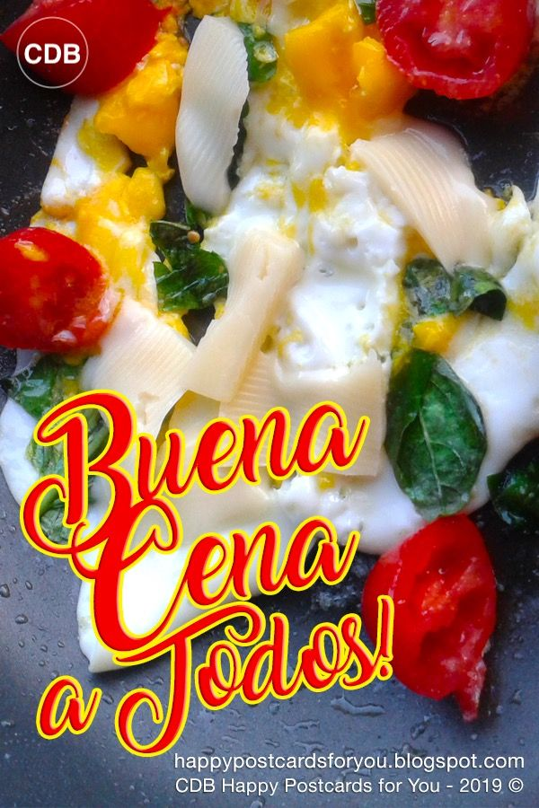 buona cena in spagnolo