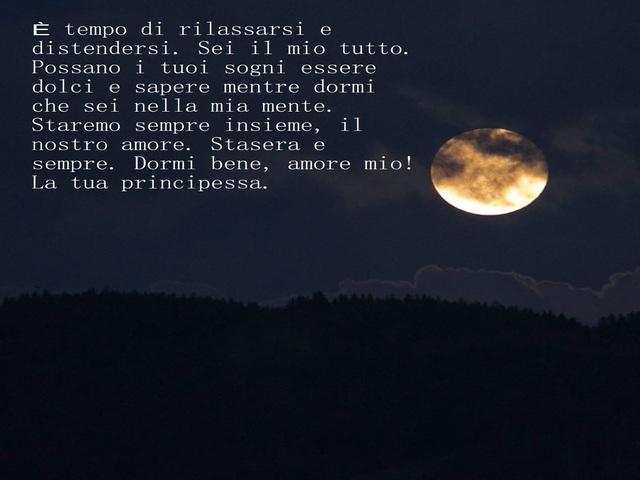 buonanotte amore