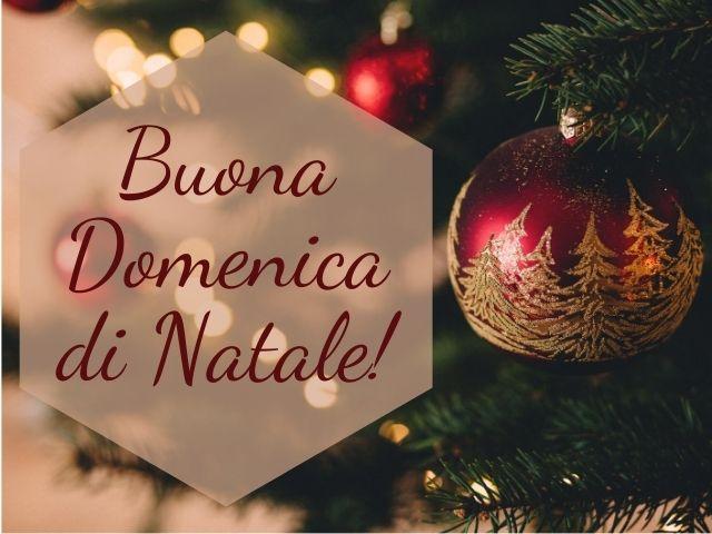 buongiorno e buona domenica natalizio
