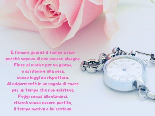 frasi sul tempo e sull'amore